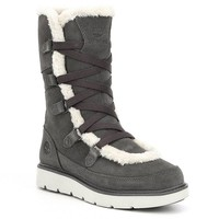 Timberland Women's Kenniston Muk Faux Fur Waterproof Cold Weather Suede Tall Boots | Dillards