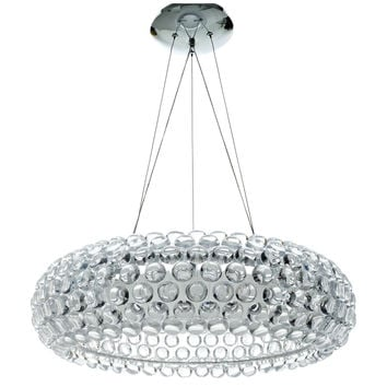 Halo Acrylic Crystal Chandelier 25""