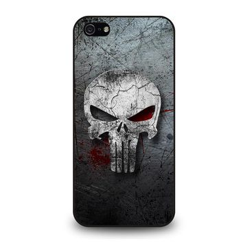 THE PUNISHER SKULL METAL iPhone 5 / 5S / SE Case
