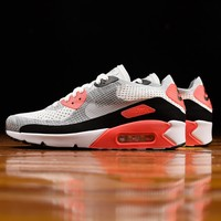 AUGUAU Women's Nike Air Max 90 Ultra 2.0 'Infrared' Flyknit [881109-100]