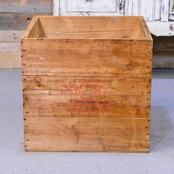 LARGE Vintage Fireworks Wooden Crate, Wood Fireworks Shipping Crate, Star Fireworks Mfg. Co. Danville, Illinois