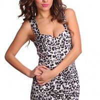 Grey Leopard Print Sweetheart Neckline Strappy Back Sexy Party Dress @ Amiclubwear sexy dresses,sexy dress,prom dress,summer dress,spring dress,prom gowns,teens dresses,sexy party wear,women's cocktail dresses,ball dresses,sun dresses,trendy dresses,sweat