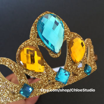 Princess Jasmine Crown,Aladdin Jasmine crown,disney princess crown,Princess Jasmine headband,Princess Crown,disney crown,party favor,jasmin