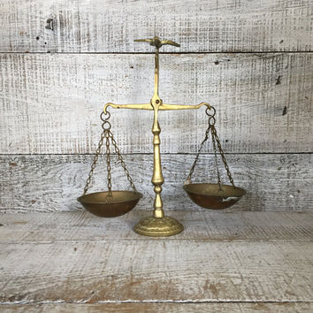 Brass Scale Scales of Justice Balancing Scale with Bird Balance Scale Brass Decor Office Desk Accessory Brass Weigh Scales Law Firm Decor