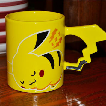 Hot Fashion Creative Pokemon Pikachu Travel Coffee Mug Ceramic Tea Water Bottle Cup Adult Kids Gifts Espresso Cups