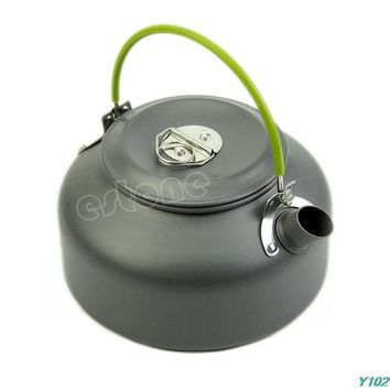 DCCKL72 0.8L Ultra-light Camping Survival Water Kettle Teapot Pot Aluminum With Mesh Bag +Free shipping-Y102