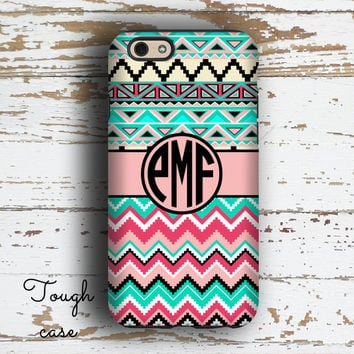 Cute Teen fashion, Pink Iphone 6s plus case, Aztec iPhone 5c case, Chevron iPhone 6 case Girls Iphone 5 case, Girly Tribal turquoise (1308)