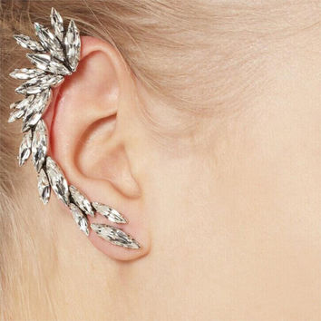 1PCS Crystal Jewelry Stud Earrings For Women Celebrity Style Fashion Party Gift Free Shipping
