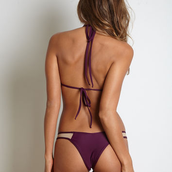 Kai Lani Swimwear Mesh Bottom in Merlot