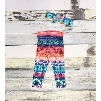 Baby Leggings - Festival Tie Dye Print Leggings - Baby Clearance