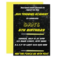 STAR WARS Birthday Invitation, SPACE BACKGROUND Card