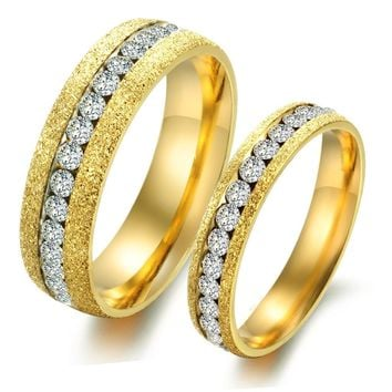 Korean Accessory Stylish Gold Pearls Titanium Couple Jewelry [11676775311]