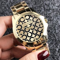 COACH 2018 new men and women models wild and fashionable quartz watch F-H-JH 4