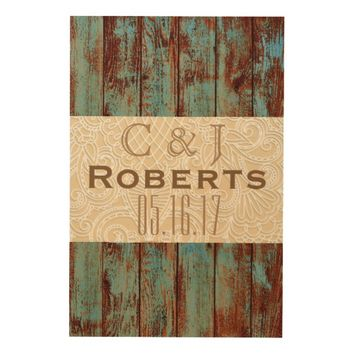 24 X 36 RUSTIC COUNTRY WEDDING GUESTBOOK WOOD WALL ART