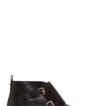 Valentino Black Leather Studded Monk Boots