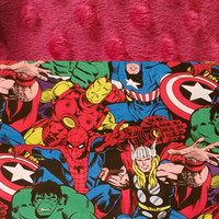 Personalized Marvel Character Blanket, Marvel Characters, Minky Blanket, Boys Bedding