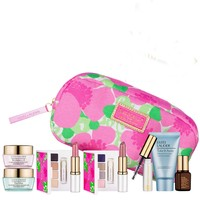 New Estee Lauder Spring 7pc Skincare Makeup Gift Set $120+ Value with Cosmetic Bag