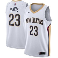 Anthony Davis New Orleans Pelicans # 23 Nike White Swingman Association Edition Jersey - Best Deal Online