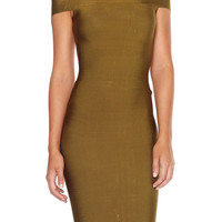 Charlize Bandage Dress - Olive