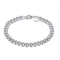 ON SALE - Classic Beads Silver Bracelet