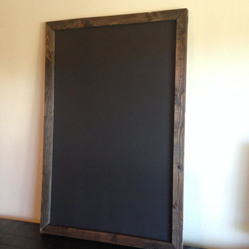 "Large Rustic Framed Magnetic Chalkboard 24""x36"", Reclaimed Wood, Rustic Wedding, Menu Board, Magnetic Chalkboard, Big Chalkboard"