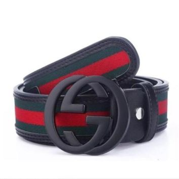 FREENEw-GUCCI-Mens-GUCCISSIMA-Leather-Shiny-Belt-110CM-Great-good-Gift!!