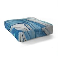 Viviana Gonzalez AGATE Inspired Watercolor Abstract 02 Floor Pillow Square