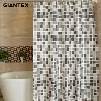 Tile Design Waterproof Shower Curtains