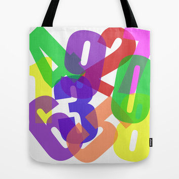 123s Tote Bag by Pop E. Carp
