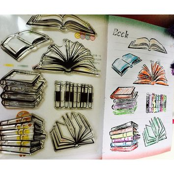 New 2018 Books Pattern Transparent Silicone Rubber Clear Stamps cartoon for Scrapbooking/DIY album