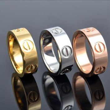 New Fashion Jewelry Screw Shape 3 Color Stainless Steel Unisex's Ring Best Gift! £¨with Thanksgiving&christmas Gift Box£©= 1930098116