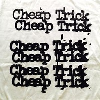 NEW! Cheap Trick Stacked Logo Classic Rock Band Licensed Concert Adult T-Shirt