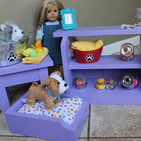 Pet Shop, Pet Wash Stand, and Pet Bed for 18in Dolls