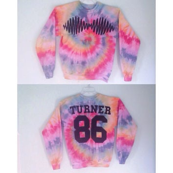 Arctic Monkeys sweatshirt -tie dye sound wave -Chose your color fabric!