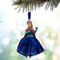 disney store sketchbook 2015 frozen anna christmas ornament new with tags