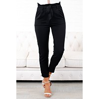 All That Magic Tie Front Pants (Black)