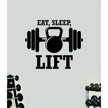 Eat Sleep Lift V5 Fitness Gym Wall Decal Home Decor Bedroom Room Vinyl Sticker Art Teen Work Out Quote Beast Strong Inspirational Motivational Health School