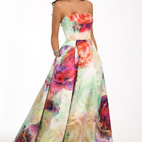 Strapless printed ball gown 23923 - Prom Dresses
