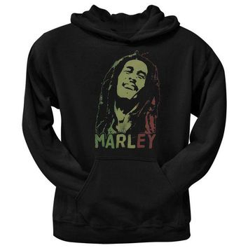 DCCKIS3 Bob Marley - Rasta Face Smile Pullover Hoodie