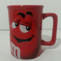 M&Ms Coffee Mug Red Featuring 'RED' the M&M Raised Relief