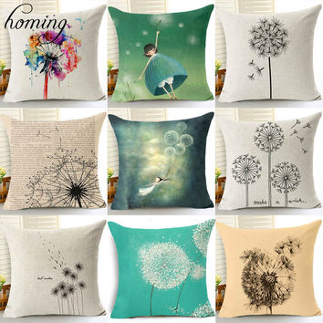Scenic Modern Cushion Cover for Sofa Seat Cushion Cover Linen Knitted Cushion Cover Pattern Textile Printing Throw Pillow Cover
