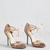 Luxe Viva la Diva Heel in Blush by Betsey Johnson from ModCloth