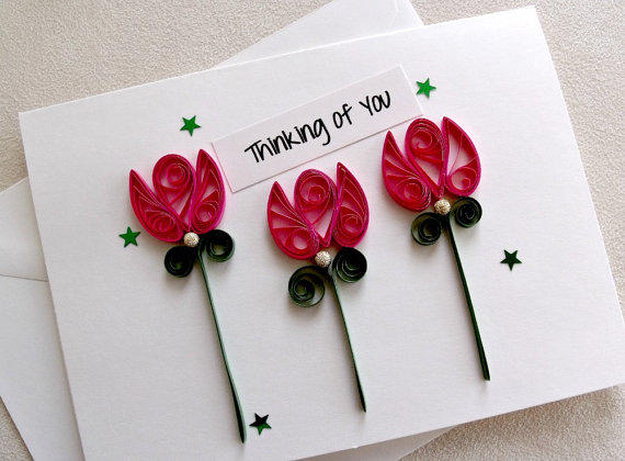 Handmade paper quilled all occasion or from sayitwithblooms on