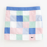 Girls' Skirts: Patchwork Seersucker Skort for Girls' - Vineyard Vines