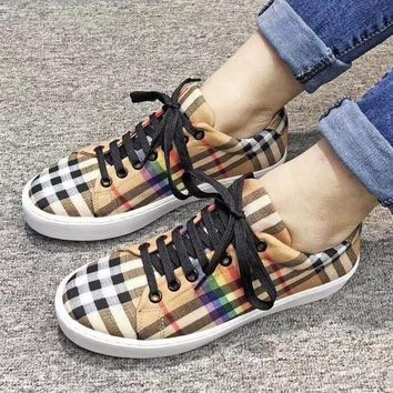 Burberry Women Fashion Breathable Old Skool Flats Shoes