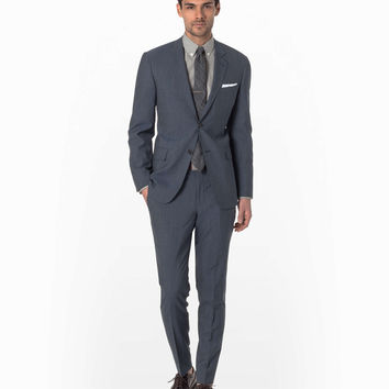 Mayfair Fit Suit in Slim Stripe Navy