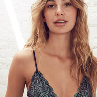 Out From Under Shimmer Lace Triangle Bra | Urban Outfitters