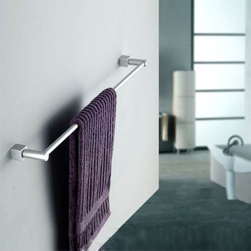 New Aluminum Wall-Mounted Bathroom Towel Holders Towel Bars Towel Racks (Size: 58cm by 8cm, Color: Silver white) = 1705758596