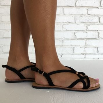 Live Free Sandals in Black