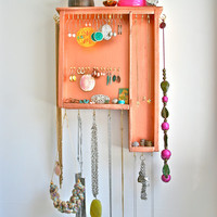 S A L E jewelry display: vintage copper painted drawer